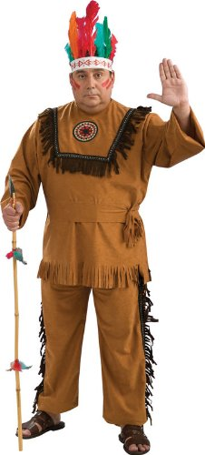 Rubies Costume Co 17696R Native American Indian Warrior Adult Plus (Cowboys And Indians Costumes Men)