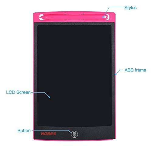 Nobes Newest LCD Writing Tablet 8.5 inch (Upgrade Brightness), Electronic Writing Doodle Pad Digital Drawing Board eWriter, As Office Whiteboard Bulletin Board Memo Notice and Gifts for Kids (Pink) by NOBES (Image #7)