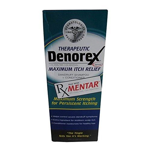 [Denorex, Therapeutic, 2-in-1 Shampoo + Conditioner, Maximum Itch Relief - 10 Oz Ea, Pack of 3] (Denorex Dandruff Shampoo)