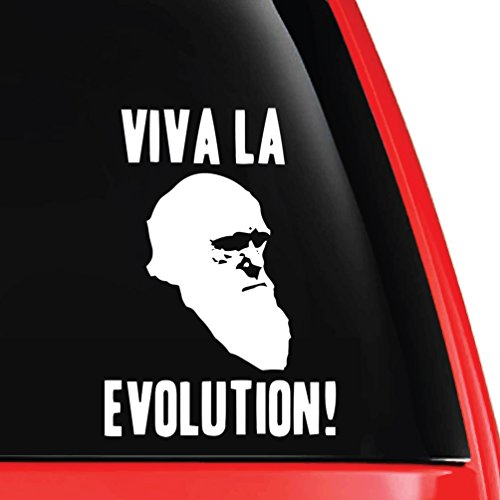(Viva la Evolution Vinyl Decal White 5