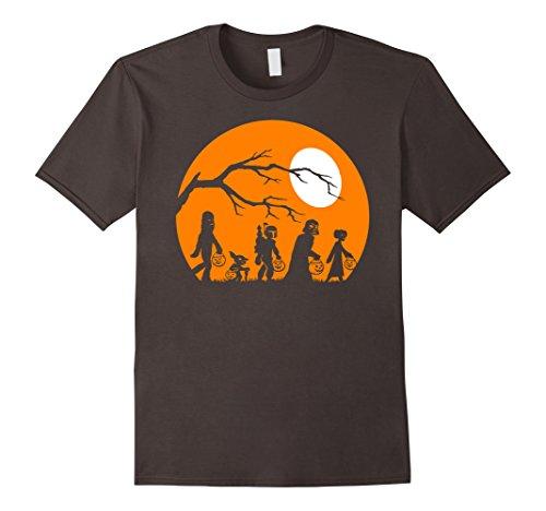 Disney Halloween Shirt (Mens Star Wars Trick Or Treat Halloween Silhouette T-Shirt Small Asphalt)