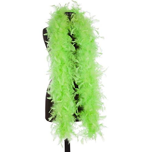 Aqua 65 Gram Chandelle Feather Boas (Lime Green) ()