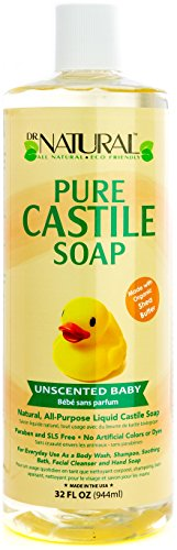 Natural Castile Liquid Soap (Dr. Natural Unscented Baby Castile Soap, 32 Ounce)