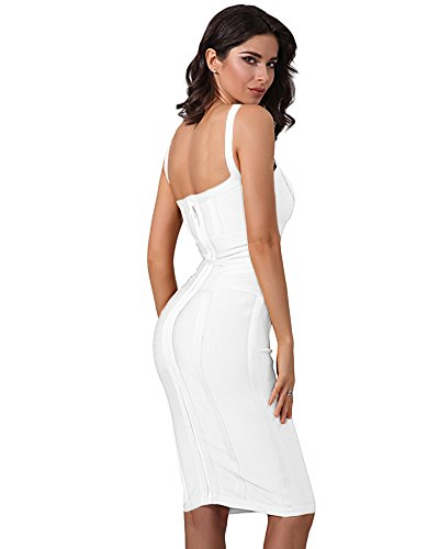 White Short Women Waist Contrast s Bandage Whoinshop Dress Pencil Tie XzPxfqRq