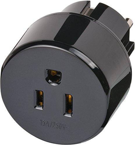 Brennenstuhl Reisestecker/-adapter USA, Japan - Schutzkontakt schwarz, 1508520