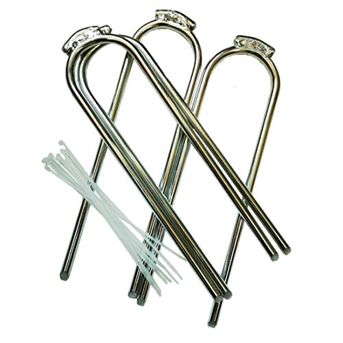 Hurricane Stake - ZhenT 4Pcs Extra-Large 12''x3.3''Outdoor Trampoline Safety Ground Anchor Galvanized Steel Wind Stakes