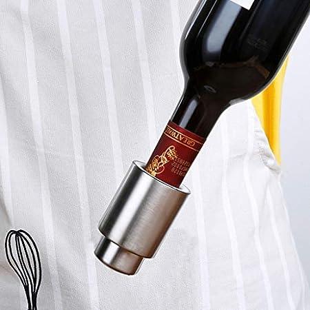 KGDC Sacacorchos de Camareros Acero Inoxidable en Forma de ala abridor de Todo-en-uno del sacacorchos del Vino y de la Cerveza del abrelatas con tapón de vacío Abridor de Botellas