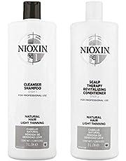 Nioxin Sistema 1limpiador & cuero cabelludo Terapia normal fino pelo Duo Set 33,8oz
