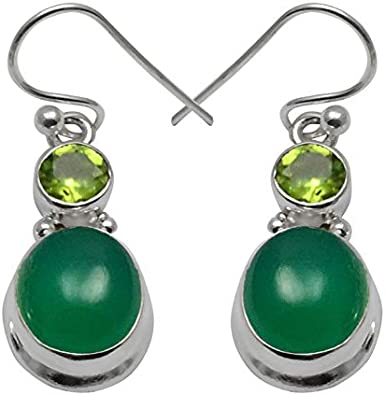 SilverArt Handmade Earring Onyx 925 Sterling Silver Plated Jewelry for Womens and Girls