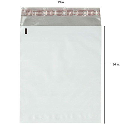 25 - 19x24 Fosmon Large Self-Seal Tear-Proof Polyethylene Mailers ()