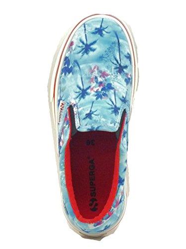 Superga 2311 Fabricfanplu - Zapatillas de lona para mujer azul - Blue (Palms Azul)