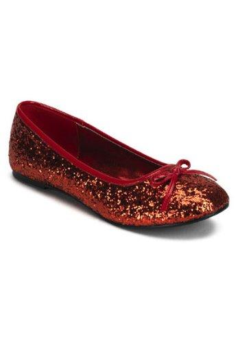Funtasma by Pleaser Women's Star-16G Flat,Red Glitter,7 M US