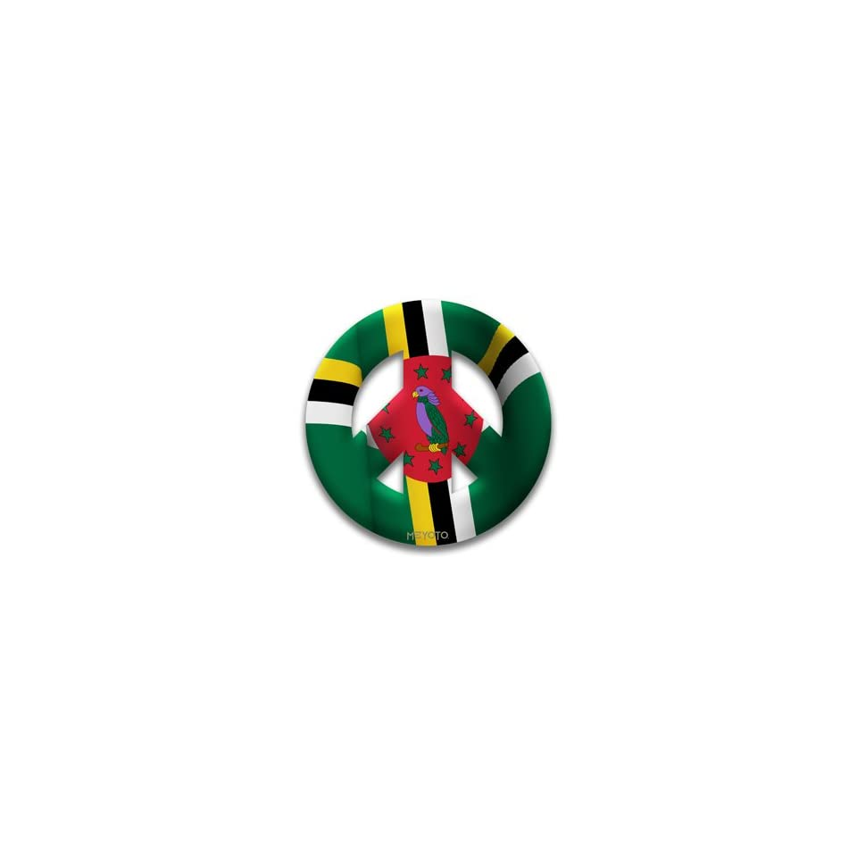 Peace Symbol Removable Vinyl Sticker of Dominica