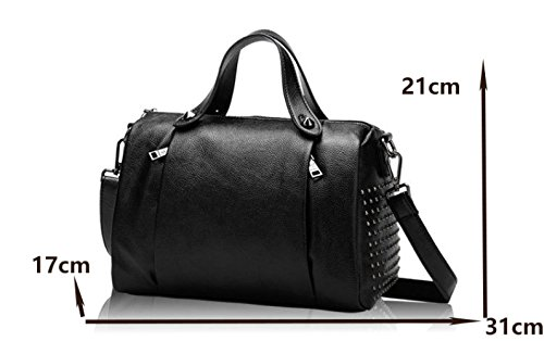 Shoulder Pillow Portable United Summer Black States Baotou The Messenger Bag Handbags Europe Leather Layer Leather Nails And 2018 New Bag Wind 4f6nxwaa