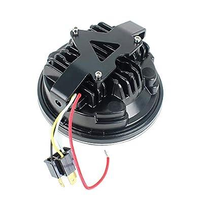 Akmties 5.75 inch LED Headlight Parking Light Kit with Bracket Compatible for YamahaXVS650 Custom, XSR900, XSR700, XJR1300, XVS950, Bolt, Raider, (Stryker 2011-2020): Automotive