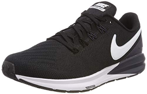 Nike Women's Air Zoom Structure 22 Running Shoe Black/White/Gridiron Size 8 M US