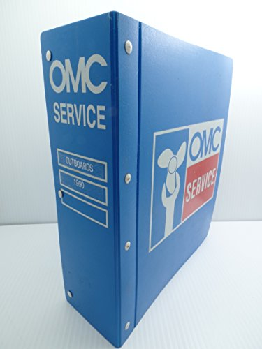 OMC Service Parts Catalogs Lot Binder 1990 Outboards Evinrude Johnson (Johnson Omc Outboard Part Catalog)