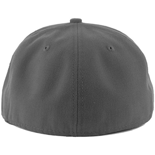 9fec5084 New Era Plain Tonal 59Fifty Fitted Hat (Graphite) Men's Blank - Import It  All