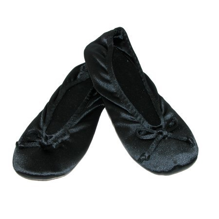 totes-isotoner-size-large-womens-satin-classic-ballerina-slippers-black