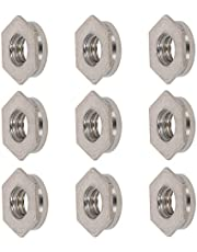 Juvielich Pitch Passivation 303 Stainless Steel Hex Head Blind Hole Metric Self Clinching Standoff Nuts Sliver Tone M4x2.3mm 25PCS