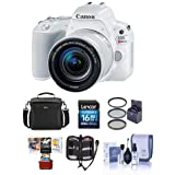 Canon EOS Rebel SL2 DSLR with EF-S 18-55mm f/4-5.6 is STM Lens - White Bundle with 16 GB SDHC Card, Camera Case, 58mm Filter Kit, Cleaning Kit, Memory Wallet, Mac Software Package