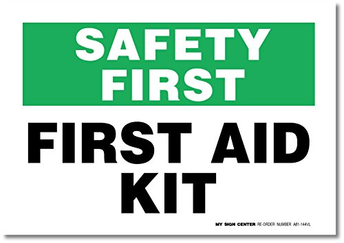 First Decal Safety Sign Self Adhesive
