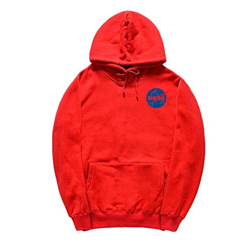 - CORIRESHA Fashion NASA Logo Print Hoodie Sweatshirt with Kangaroo Pocket(smaller than standard size)