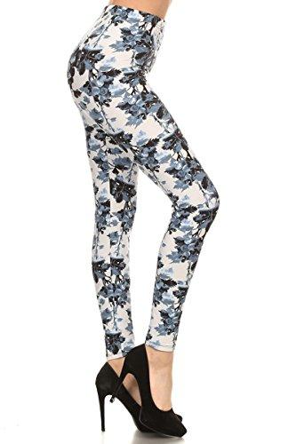 R578-OS Blueberries Print Fashion Leggings