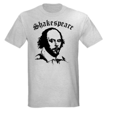 Shakespeare Portrait T-Shirt (Small, Ash Grey)