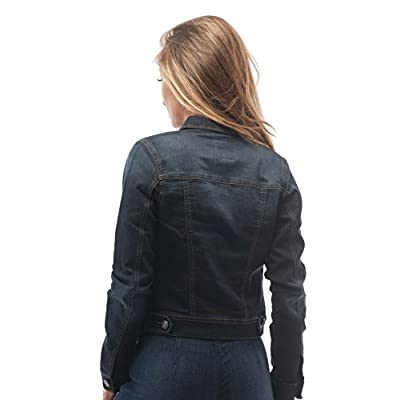 Hollywood Star Fashion Womens Basic Button Down Denim Jean Jacket at Women's Coats Shop