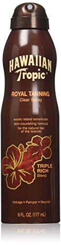 Hawaiian Tropic Royal Tanning Sun Care Spray Oil - 6 Ounce (Pack of 3) (Hawaiian Tropic No Spf)