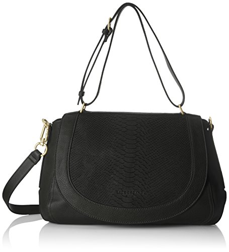 Liebeskind Berlin Women's Dinard Lasercut Leather Snakeskin Satchel, black