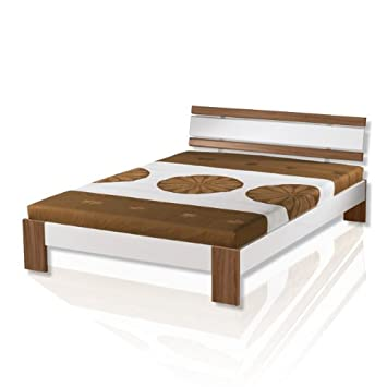 Schlafzimmer bei roller  ROLLER Futonbett HAWAII Nussbaum/weiß Betten Schlafzimmer: Amazon ...