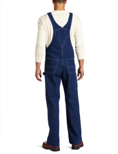 Carhartt Men's Washed Denim Bib Overalls Unlined R07,Darkstone,40 x 32