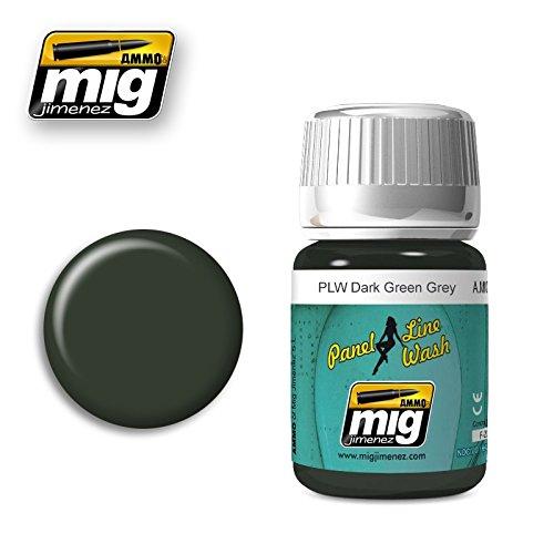 (Ammo of Mig Jimenez PANEL LINE WASH DARK GREEN GREY 35ml #1608)