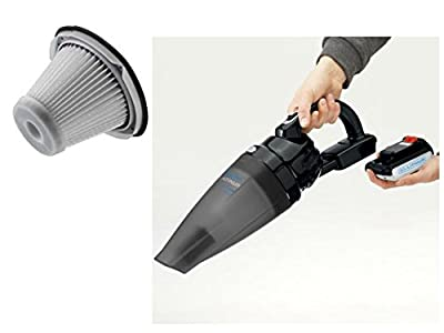 NEW! Black & Decker Bagless 20V MAX Lithium Ion Slide Pack Vacuum with Black & Decker Replacement Filter for Slide Pack Vacuums