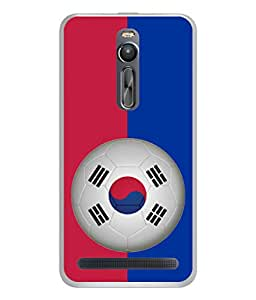 ColorKing Football South Korea 09 Multi Color shell case cover for Asus Zenfone 2