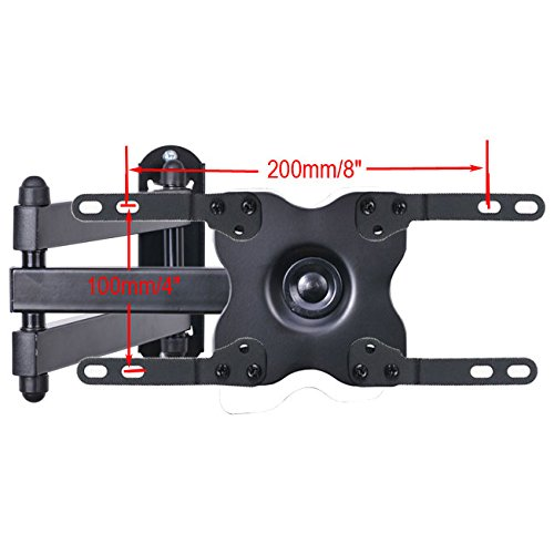 """VideoSecu TV Wall Mount Monitor Bracket with Full Motion Articulating Tilt Arm 15"""" Extension for most 17"""" 19"""" 20"""" 22"""" 23"""" 24"""" 26"""" 27"""" 28"""" 29"""" 32"""" 37"""" 39"""" LCD LED Displays up to VESA 200x200 ML14B WS2"""