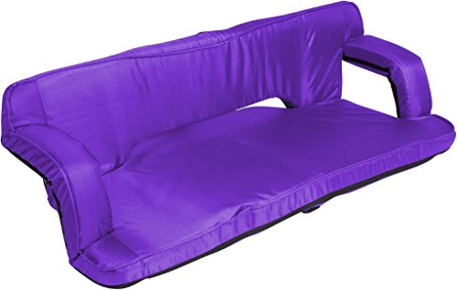 43″ Portable Adjustable Double Recliner Seat – Multiuse for 2 by Trademark Innovations (Purple)