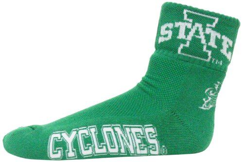 Donegal Bay NCAA Iowa State Cyclones Men's Quarter Socks, Green/White