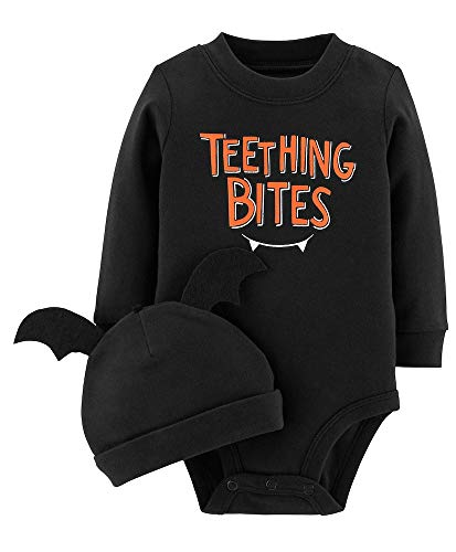 Carter's 2-Piece Halloween Collectible Bodysuit & Cap Set (3 Months, Teething -