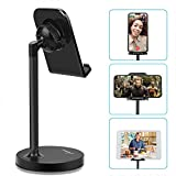 AONKEY Adjustable Cell Phone Stand, Desk Cellphone Holder Compatible with iPhone Xs Max XS XR X 6 6S 7 8 Plus, All Android Smartphone & Nintendo Switch & iPad& Other 7'-13' Tablets