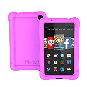 Fire HD 6 Case - Poetic Fire HD 6 Case [Turtle Skin Series] - [Corner/Bumper Protection] [Grip] [Sound-Amplification] Protective Silicone Case for Amazon Kindle Fire HD 6 Purple (3 Year Manufacturer Warranty From Poetic)
