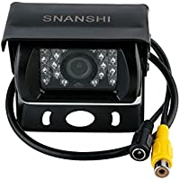SNANSHI Truck Lorry Pickup Bus Vehicle Caravans Backup Reversing Rear View Waterproof Camera with IR Cut LED Night Vision DC 9V - 35V Wide Voltage