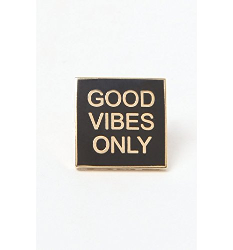 Pintrill Mens Good Vibes Only Pin