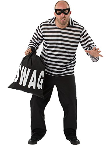 [Burglar Bill Costume] (Robber Adult Costumes)