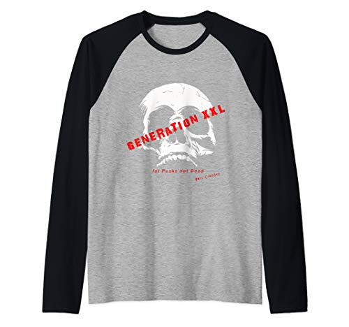 Punk Grandad generation XXL Punk Rock Designs Raglan Baseball Tee