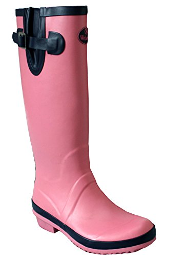 Waterproof Wetlands 7 Calf Pink Snow Rain Wellies Wellington Mud 8 Sizes Boots Navy Ladies Festival UK UK Womens 5 Adjustable T5t8xq