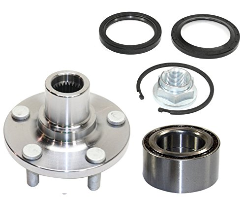 DTA D930501+NT517008 Front Wheel Hub Wheel Bearing Kit Left or Right Fits Subaru Legacy Impreza Forester Baja With Seals Nut Retaining Clip