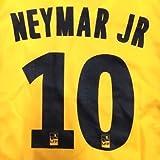 大人用 A144 18 パリサンジェルマン NEYMAR JR*10 ネイマール 黄色 ゲームシャツ パンツ付 サッカー上下セットユニフォームアウェイ
